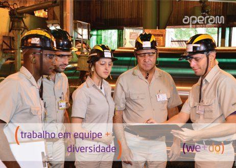 (trabalho em equipe + diversidade)